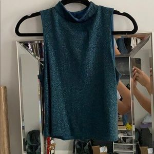 high neck sparkly tank